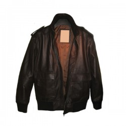Men's Brown Bomber Flight Leather Jackets