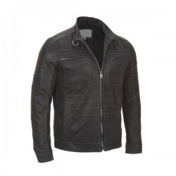 Men's Classic ZIP-UP Black Leather Jacket