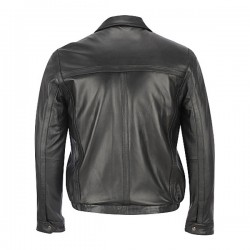 Classic ZIP-UP Soft Black Leather Jackets