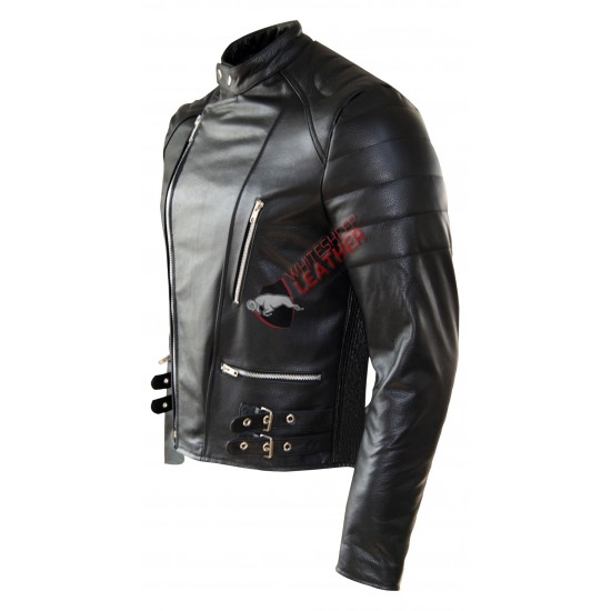 Men's Classic Motorcycle Leather Jacket