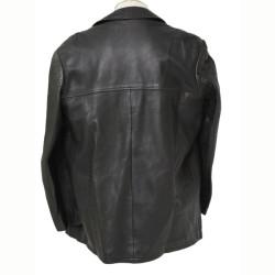 Men Stylish Black Leather Coat