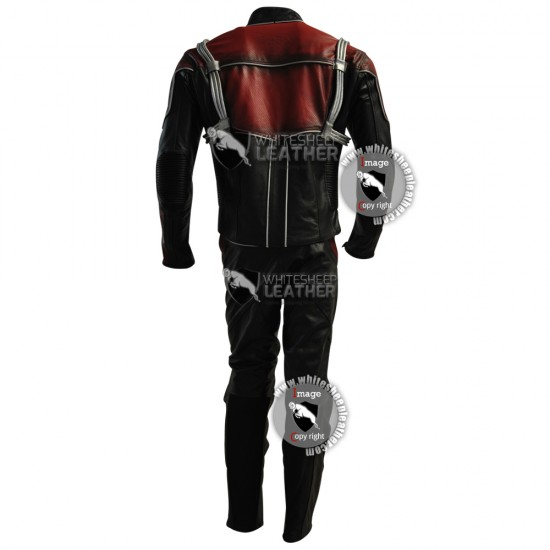 Scott Lang Ant-Man leather costume suit (Free Shipping)
