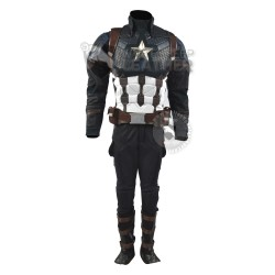 Captain America Steve Rogers Avengers 4 Endgame Costume Suit ( Screen Printed Lycra)