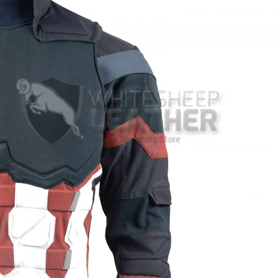 Captain America Steve Rogers Avengers 4 Endgame Costume Suit ( Screen Printed Lycra) ( without scales and shoulder Bells )