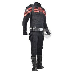 Captain America hydra costume suit with Accessories (Textured Stretch Fabric )