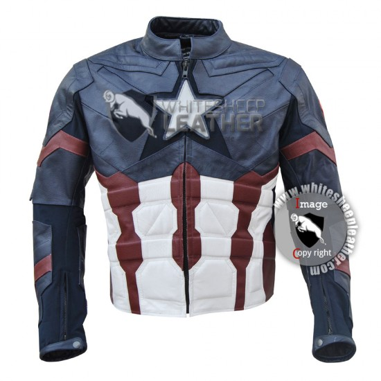 Captain America: Civil War Real Leather Jacket
