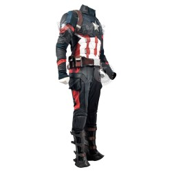 Captain America Civil war Steve Rogers Full Costume suit ( Screen Printed Lycra )