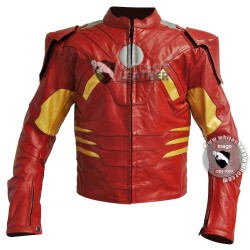 Avengers Iron Man Mark 7 costume leather jacket