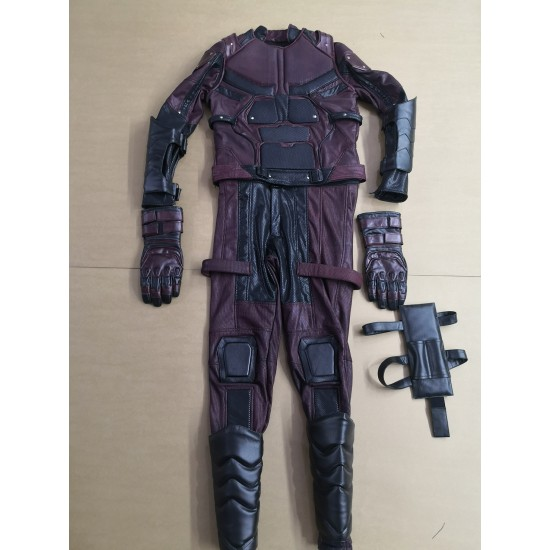 Daredevil season 2 Matt Murdock costume suit  (Screen Printed Lycra Suit ) +  Accessories