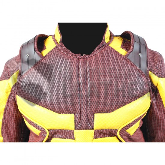 Daredevil season 2 Yellow and Red costume suit  (Screen Printed Lycra Suit ) +  Accessories