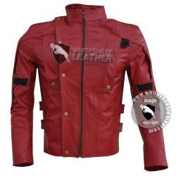 Guardians of the Galaxy Chris Pratt Star Lord Leather Jacket