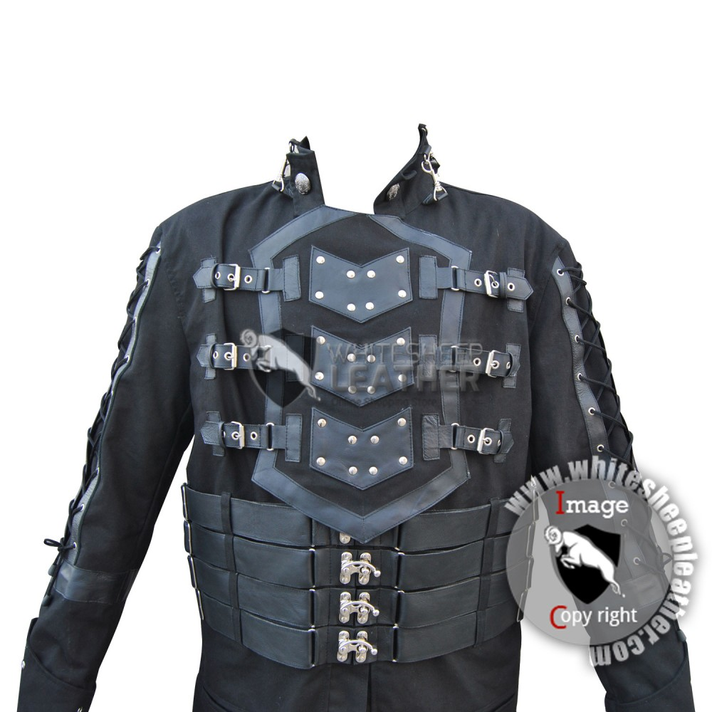 Hellraiser Dark Goth Coat Gothic Steampunk Jacket Punk Vampire Men Long Coat  (Free shipping)