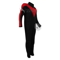 New NightWing Red and Black Jumpsuit  (Textured Stretch Fabric )