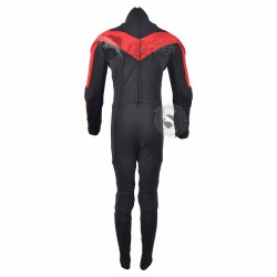 NightWing Red and Black Jumpsuit  (Textured Stretch Fabric )