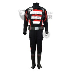 The Falcon and the Winter Soldier : US Agent Costume suit (Textured Stretch Fabric ) (RED AND BLACK )