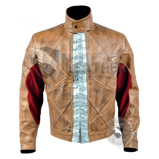 Red Hood Real Leather Jacket (weathered )