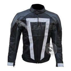 Gabriel Luna Agents Of Shield Ghost Rider Leather Jacket (weathered )