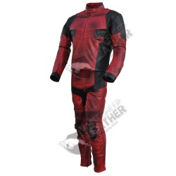 Ryan Reynolds DeadPool movie Motorcycle Leather suit (Free Shipping)