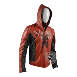 New Men Spiderman Real leather Jacket
