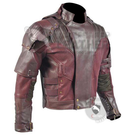 Star Lord Guardians of the Galaxy Volume 2 Chris Pratt  Jacket  ( Screen Printed)