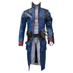 Star Lord Guardians of the Galaxy blue Leather coat
