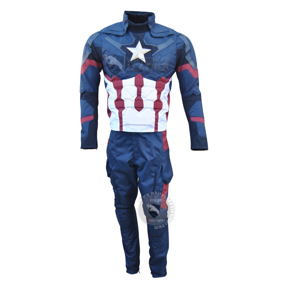 America Civil War Steve Rogers Full Costume Suit