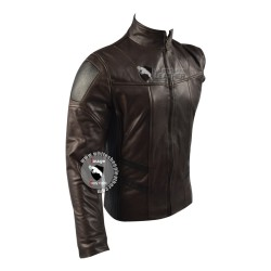 The Falcon and the Winter Soldier : Bucky Barnes Brown Real leather Jacket