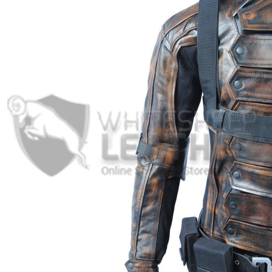 Captain America Winter Soldier : Bucky Barnes premium quality Costume (Weathered )