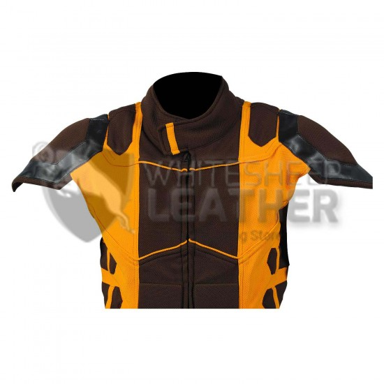 Wolverine Yellow and Brown suit  (Textured Stretch Fabric )