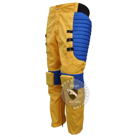 X-men Wolverine Yellow and Blue Costume Suit