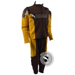 Wolverine Yellow and Brown Custom suit (Textured Stretch Fabric )