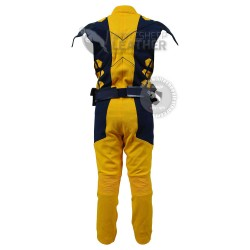 Wolverine Yellow and Dark blue suit  (Textured Stretch Fabric )