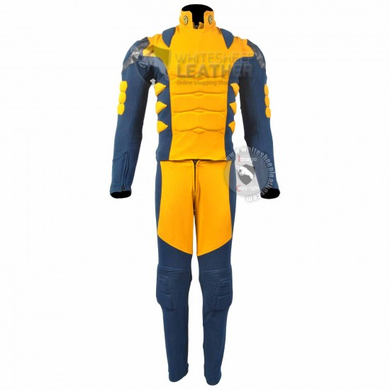 Wolverine Blue and Yellow Costume suit (Textured Stretch Fabric )
