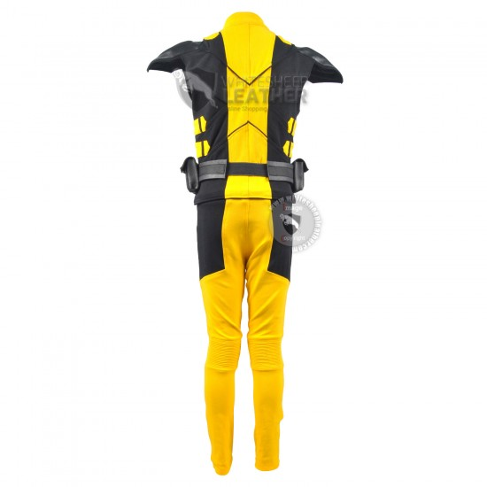 Wolverine Yellow and Black suit  (Textured Stretch Fabric )