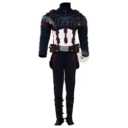 Avengers: Infinity War Captain America Steve Rogers Costume Suit (Textured Stretch Fabric )
