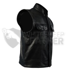 Charlie Hunnam SOA Sons of Anarchy Leather Vest