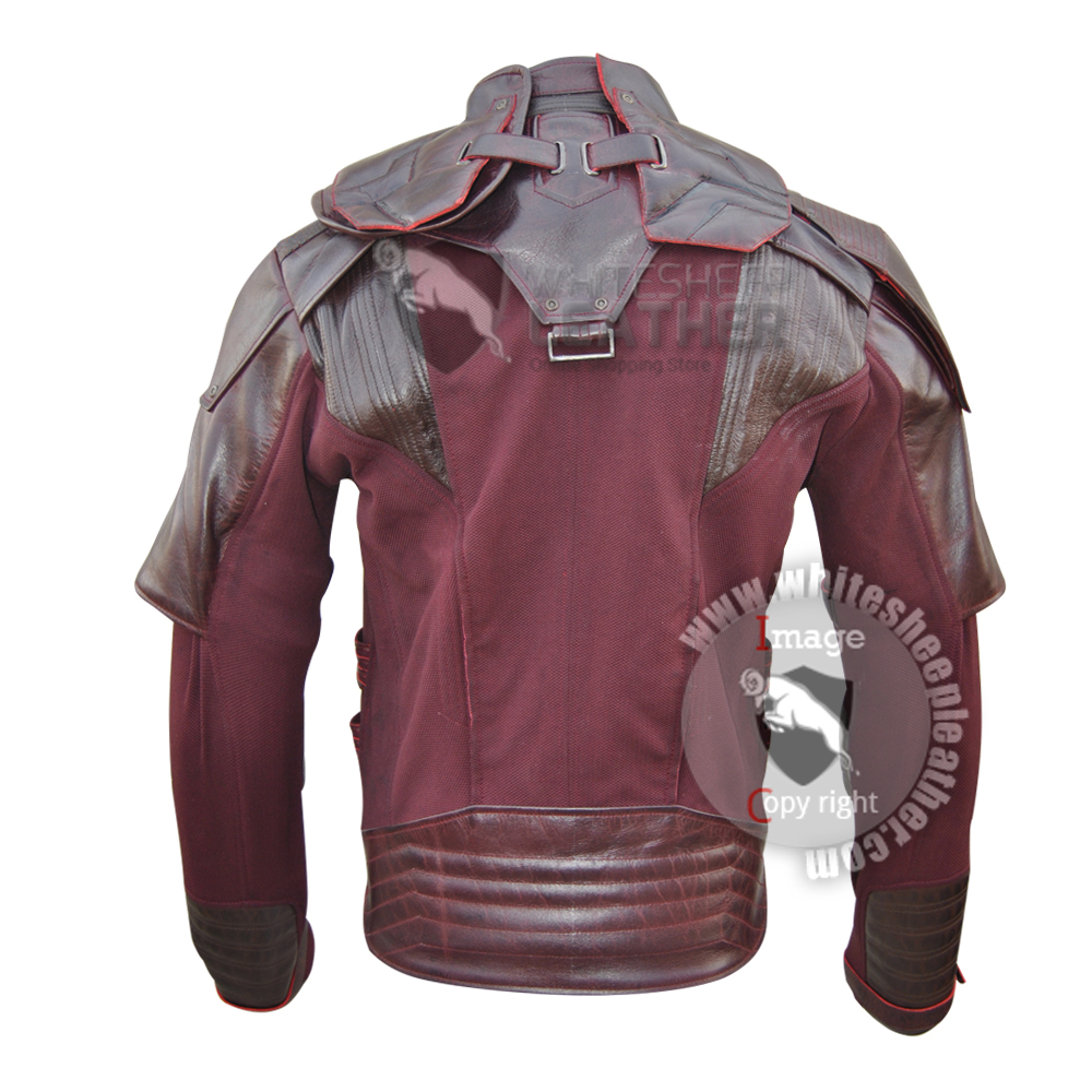 Star Lord Guardians of the Galaxy Volume 2 Chris Pratt  Jacket  ( Texture stretch + Leather )