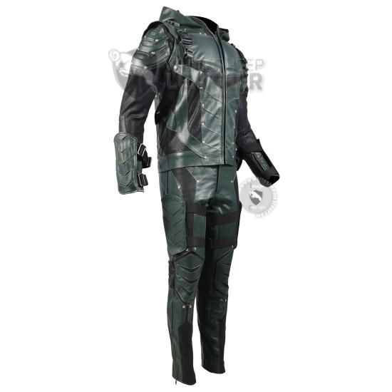 Green arrow season 5 Stephen Amell costume + Accessories