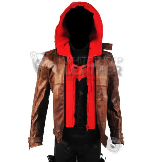 Titans Season 3 :  Jason Todd  Red Hood Leather Costume