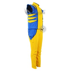 Wolverine Yellow and Blue suit  (Textured Stretch Fabric )