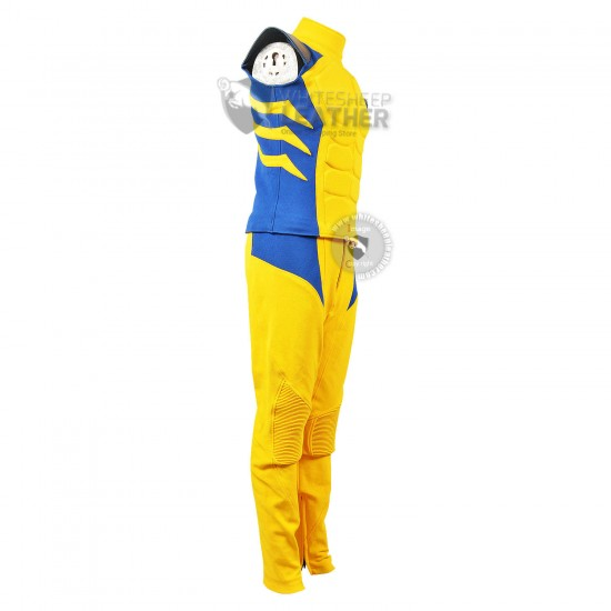 Wolverine classic Yellow and Blue suit  (Textured Stretch Fabric )