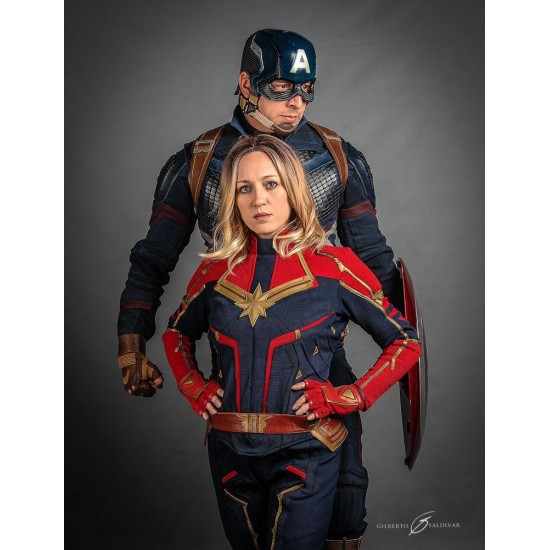 Carol Danvers Captain Marvel Costume Suit Textured Stretch Fabric 2020 popular 1 trends in novelty & special use, men's clothing, sports & entertainment, women's clothing with captain marvel costume men and 1. carol danvers captain marvel costume suit textured stretch fabric