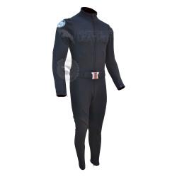 Captain America : The Winter Soldier Scarlett Johansson Black Widow Costume Suit (Textured Stretch Fabric )