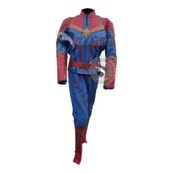 Carol Danvers Captain Marvel Blue and Red Movie Costume