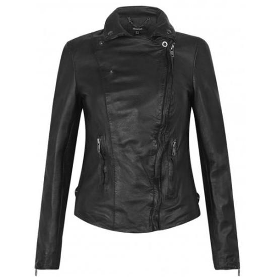 Designer Black Slim Fit Leather Jacket