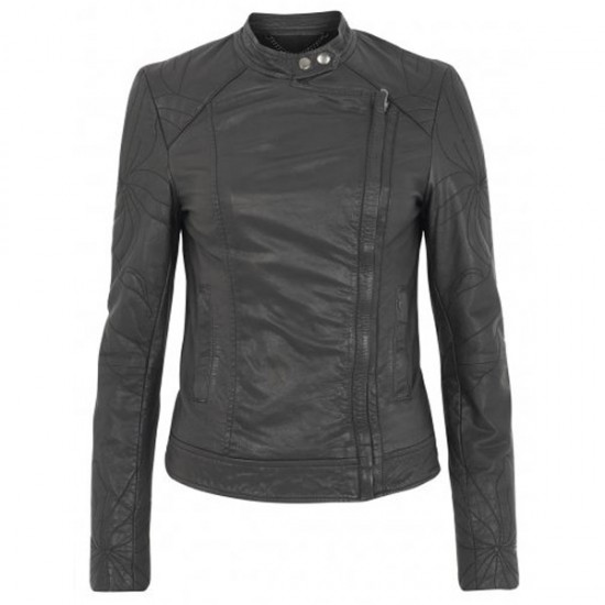 Classic Motorcycle Black Leather Jacket