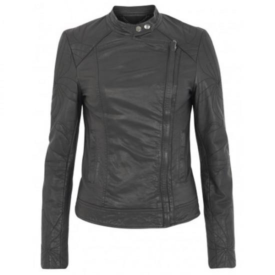 Classic Motorcycle Black Leather Jacket