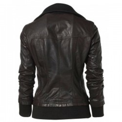 Designer Ladies Bomber Black Leather Jackets