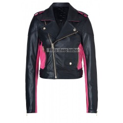 Women's Classic Zip Up Leather Jacket