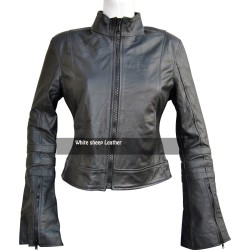 Women Slim Fit Stylish Real Leather Jacket